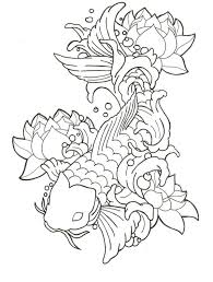 Small Picture Trend Koi Fish Coloring Page 14 For Coloring Pages for Adults with