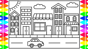Welcome to the wacky world of free printable coloring pages, by the coloring barn! How To Draw A Town For Kids Town Drawing For Kids Town Coloring Pages For Kids Youtube