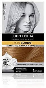 John Frieda Precision Foam Color Chart John Frieda Precision Foam Permanent Hair Colour In 8n Medium Natural Blonde