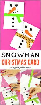 Snowman Christmas Card Easy Peasy And Fun Diy Idea For Kids