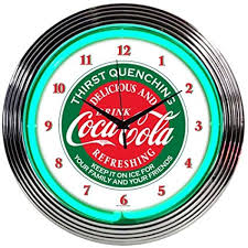 Evergreen Vending Machine Llc Extraordinary Amazon Neonetics Drinks Coca Cola Evergreen Neon Wall Clock 48