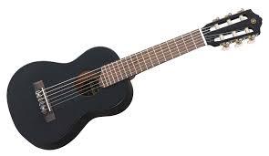 yamaha ukulele. yamaha gl1bl guitalele guitar ukulele hybrid - includes gigbag black finish u