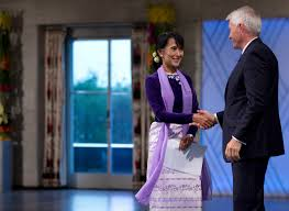 Aung San Suu Kyi Accepts Nobel Peace Prize - The New York Times