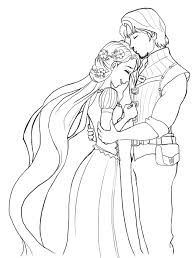 Small Picture rapunzel wedding coloring papges Rapunzel Is Very Happy Coloring