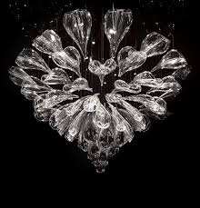 contemporary chandelier blown glass led