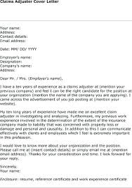Ehow Cover Letter Example Cover Letter For Claims Adjuster Trainee