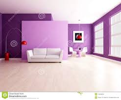 Purple Decorating Living Rooms Minimalist Purple Living Room With Dining Space Stock Images