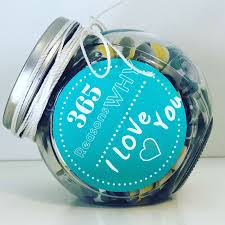 There are 149 365 jar for sale on etsy, and they cost $19.05 on average. 365 Reasons Why I Love You Personalized Jar Reasonswhy
