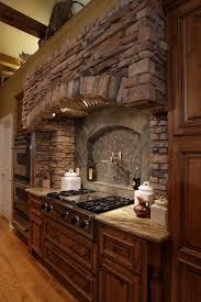 elegant interior stone wall ideas serious design upgrade brick kitchen classic italian arch oak designs red