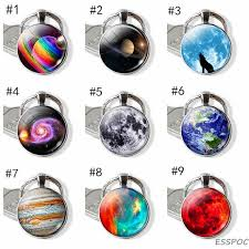 <b>Galaxy Planet Saturn</b> Jupiter Moon Stainless Steel Keychain ...