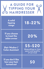 Tipping Chart Usa How Much To Tip Your Hairdresser How Much To Tip Stylist
