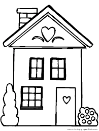 Houses And Homes Color Page Free Printable Coloring Sheets For Kids