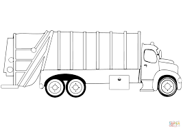 Garbage Truck Coloring Page Viettiinfo