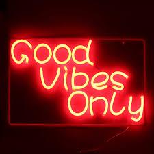 Good Vibes Light Up Sign Good Vibes Only Neon Art Sign Handmade Visual Artwork Wall
