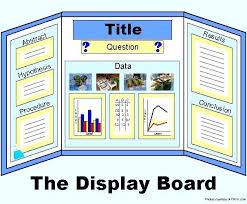 Tri Fold Science Board Fold Poster Board Template Site Science Board