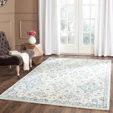 safavieh evoke ivory light blue 8 ft x 10 ft area rug