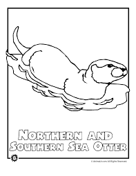 Small Picture North American Animals Coloring Pages Endangered sea otter woo