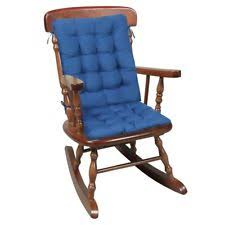 blue rocking chair. Two Piece Rocking Chair Cushions - Seat \u0026 Back Pads Blue