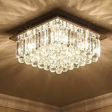 saint mossi modern k9 crystal raindrop chandelier lighting flush mount led ceiling light fixture pendant lamp