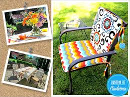 and doesn t that sound wonderful this time of year bring some beauty into your backyard with our cheery chair cushions complete with brightly colored