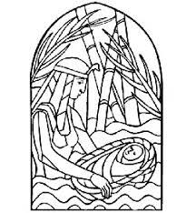 Mozes In Het Biezen Mandje Kleurplaat Mozes In Mand Kleurplatenlcom