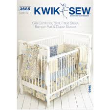 kwik sew pattern crib comforter skirt fitted sheet per pad and diaper stand fits cribs 28 x 52 com