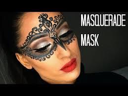 diy glam masquerade mask using only eyeliner you
