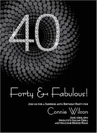 40th birthday invite wording for her 8 40th birthday invitations ideas and themes sle