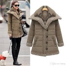 2018 womens winter thicken warm fashion military jackets and down coat fleece zip trench coats wool outwear b184 from huimj 38 2 dhgate com