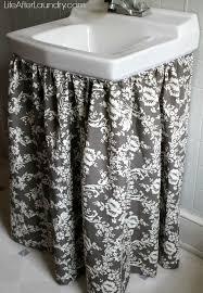 diy gathered sink skirt