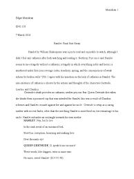 hamlet catharsis essay hamlet