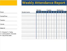 Attendance Chart Online Weekly Attendance Report