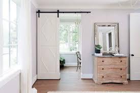 home office barn door with diamond trim