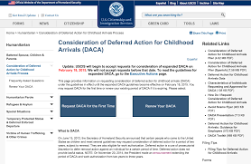 Childhood Consideration For Of Or Arrivals Deferred Daca Action qn1T7