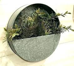 metal wall pocket planter galvanized