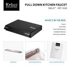 Kitchen Faucet Installation Instructions Kitchen Faucet Kraususacom