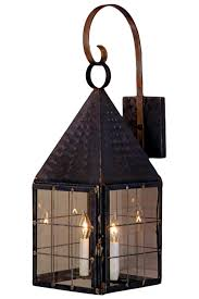 colonial new england wall light with bracket lantern