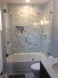 bathroom bathtub and shower combo with sliding glass door for small bathroom tub doors frameless