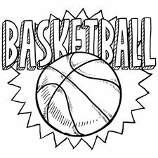Small Picture Free Coloring Sheet Of Basketball For Kindergarten Sports