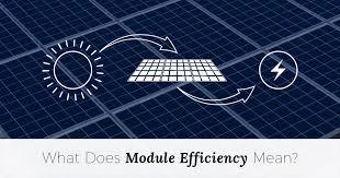 what does module efficiency mean