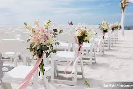 beach wedding chairs. Hilton Clearwater Beach Wedding A Chair Affair White Folding Chairs