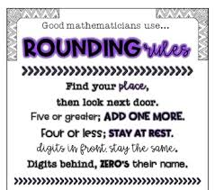Rounding Rules Chart Rounding Rules Anchor Charts