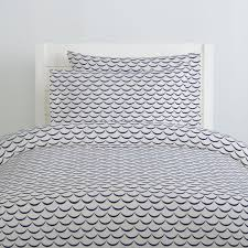 white and navy waves duvet cover