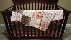 baby girl crib bedding fl antlers deer skin flowers ivory crushed minky and blush crib baby bedding ensemble