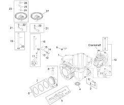 Crankcase assembly kohler sv610 0020