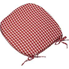 gingham check tie seat pad kitchen outdoor dining chair round cushion red pads and cushions wicker chair cushions alluring