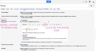 How To Add A Signature To Gmail Little Blue Deer Custom