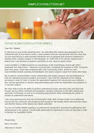 Ideas Collection Esthetician Cover Letter Sample Best Medical