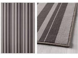 ikea ibsted rug low pile mat runner carpet grey 120x180cm anti slip rubber back