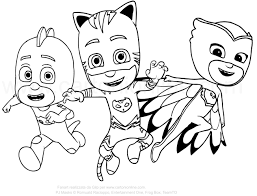 Small Picture 8 best pj mask images on Pinterest Pj mask Coloring pages and